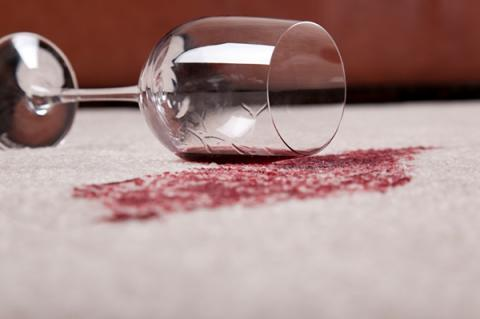 Specialty Stain Removal Service by Shirley's Chem-Dry removes wine from carpet in Tipton IN