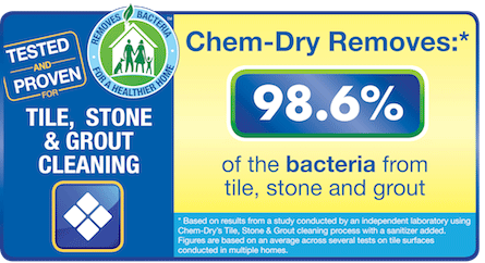 Shirley's Chem-Dry removes 98.6% of bacteria from tile, stone and grout in Kokomo and Tipton IN