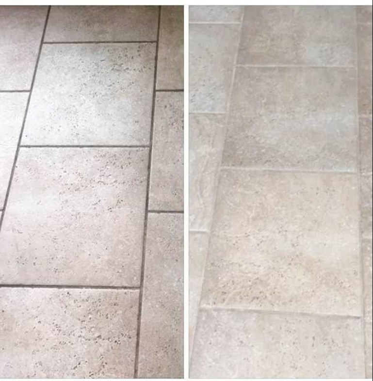 before and after tile cleaning results in Tipton IN