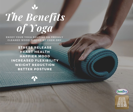 the benefits of yoga wood floor cleaning services by  Shirley's Chem-Dry in Tipton IN